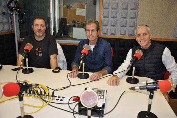 Jordi Viu (director Institut Lluís Companys), José Alfaro (director Institut Palau Ausit) i Toni Liarte (director Institut Can Mas).