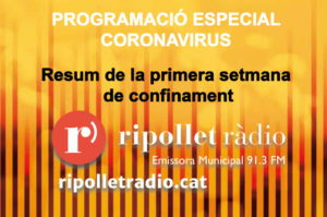 Especial Coronavirus. Resum setmanal 21/03/2020