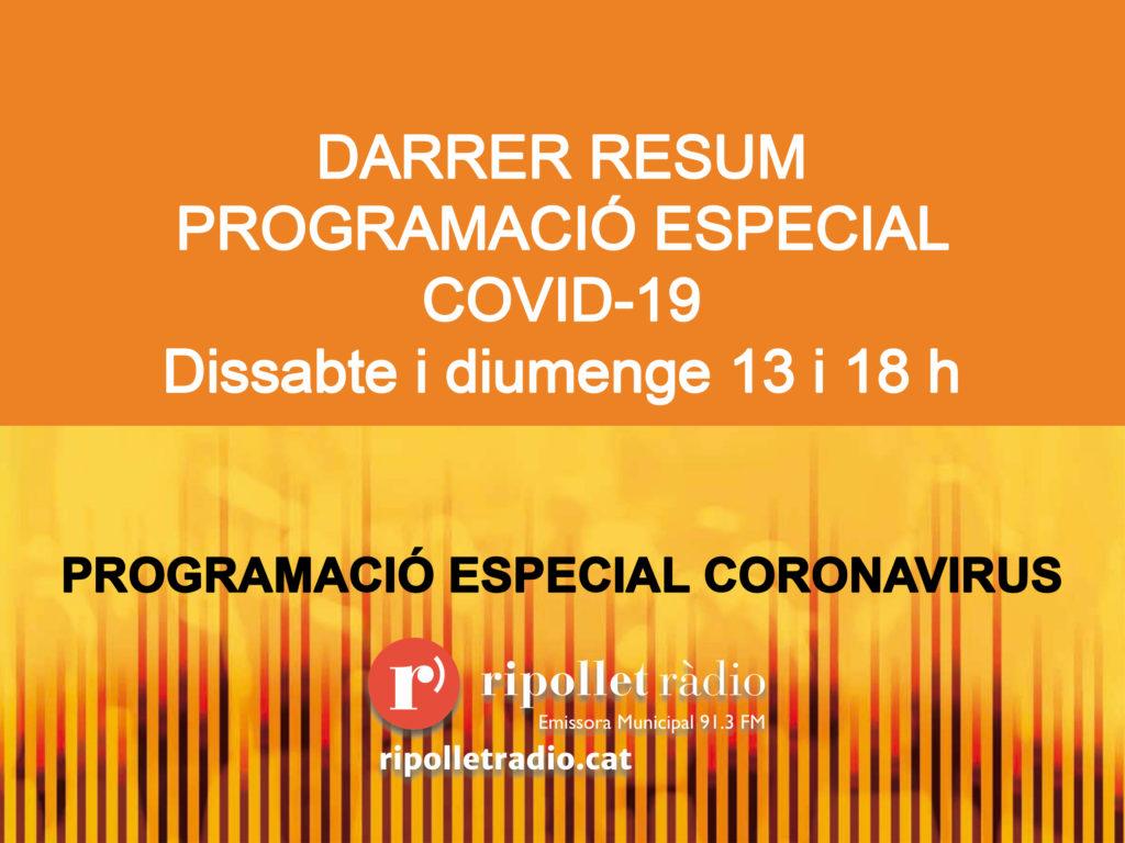 Especial coronavirus 27/06/2020